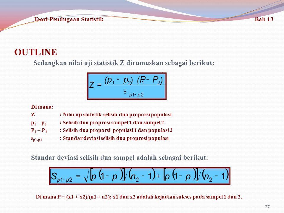 [ ] ( ) ( ) ( ) OUTLINE 1 - + = n p S (p - Z s = ) p (P - P